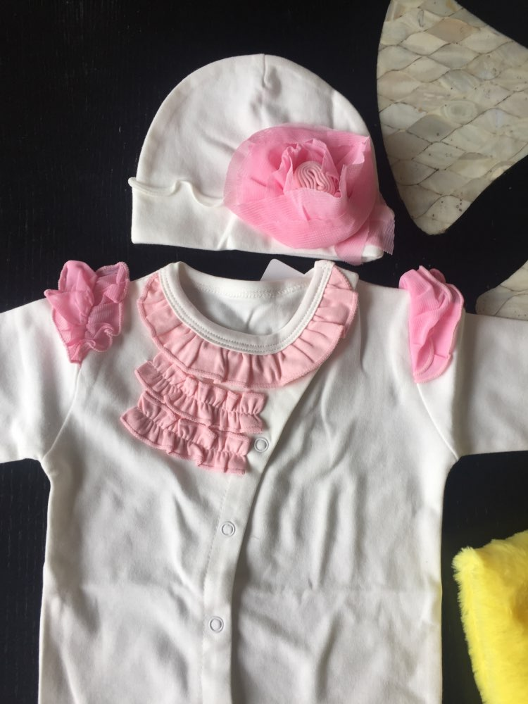 Baby Girl's Cotton Romper with Hat photo review