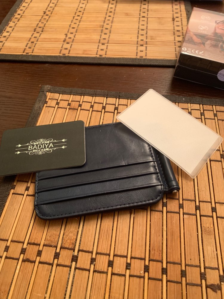 Vintage Genuine Real Leather Card Holder Retro Cow Leather Men's Dollar Money Clip 12 Card Slots photo review