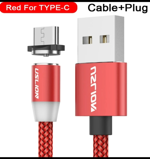 USLION Magnetic USB Cable Fast Charging USB Type C Cable Magnet Charger Data Charge Micro USB Cable Mobile Phone Cable USB Cord-in Mobile Phone Cables from Cellphones & Telecommunications on AliExpress