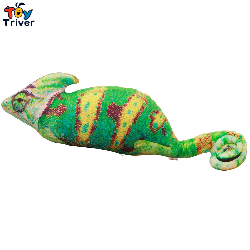 1pc 70/100cm Simulation Chameleon Plush Toys Cartoon Stuffed Lizard Animal Doll Cute Creative Birthday Gift for Kids Children