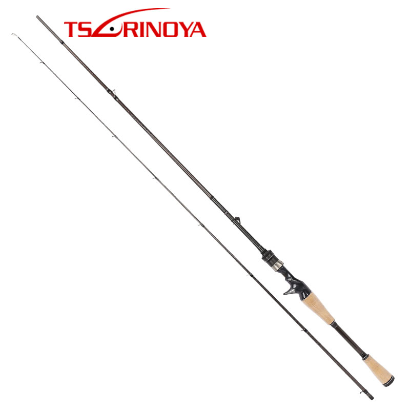 TSURINOYA ELITE II 1.98m ML Casting fishing rod 2 Sections Carbon Lure Rods FUJI Accessories цены