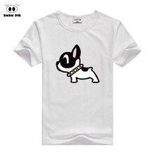 Летние футболки для маленьких девочек и мальчиков футболка детская одежда короткий рукав Пёс из мультфильма узор Топы Дети мальчик футболка со щенком Костюмы