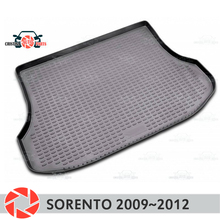 Коврик багажника для Kia Sorento 2009 ~ 2012 багажника коврики Нескользящие полиуретановые грязи защиты багажник Тюнинг автомобилей