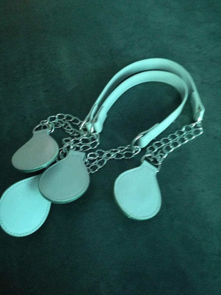 tanqu 1 Pair Metal Shoulder Chain Belt for Obag O Bag Colorful Drop End Combination Handbag Handle photo review