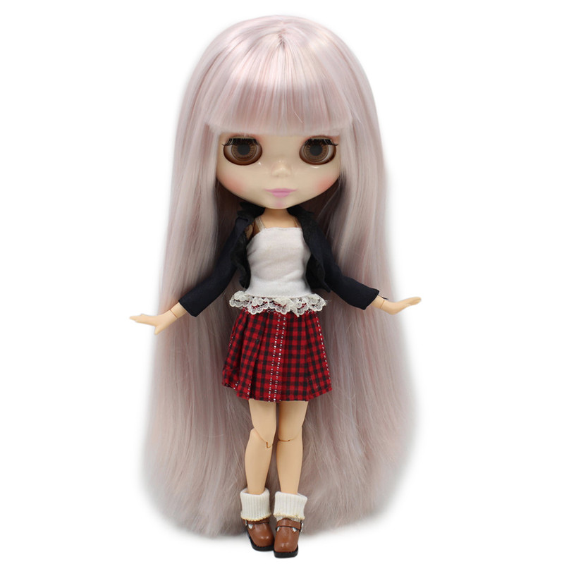 ICY Nude Blyth Doll For Series No 280BL6909 1010 Joint Body Big Breast Silver mixed hair