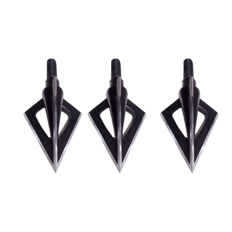 Image 3 - 20pcs Hunting Arrowhead 100Gr Steel Broadhead 3 Blades Arrow Point Target Shooting Tips Crossbow Compound Recurve Bow Head-in Bow & Arrow from Sports & Entertainment