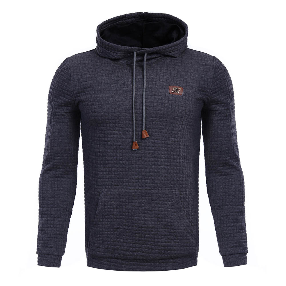 2017 Men Soft Hooded Pullover With Pocket Rope Streetwear Autumn Winter Sweatshirt With Hat Cheap Price