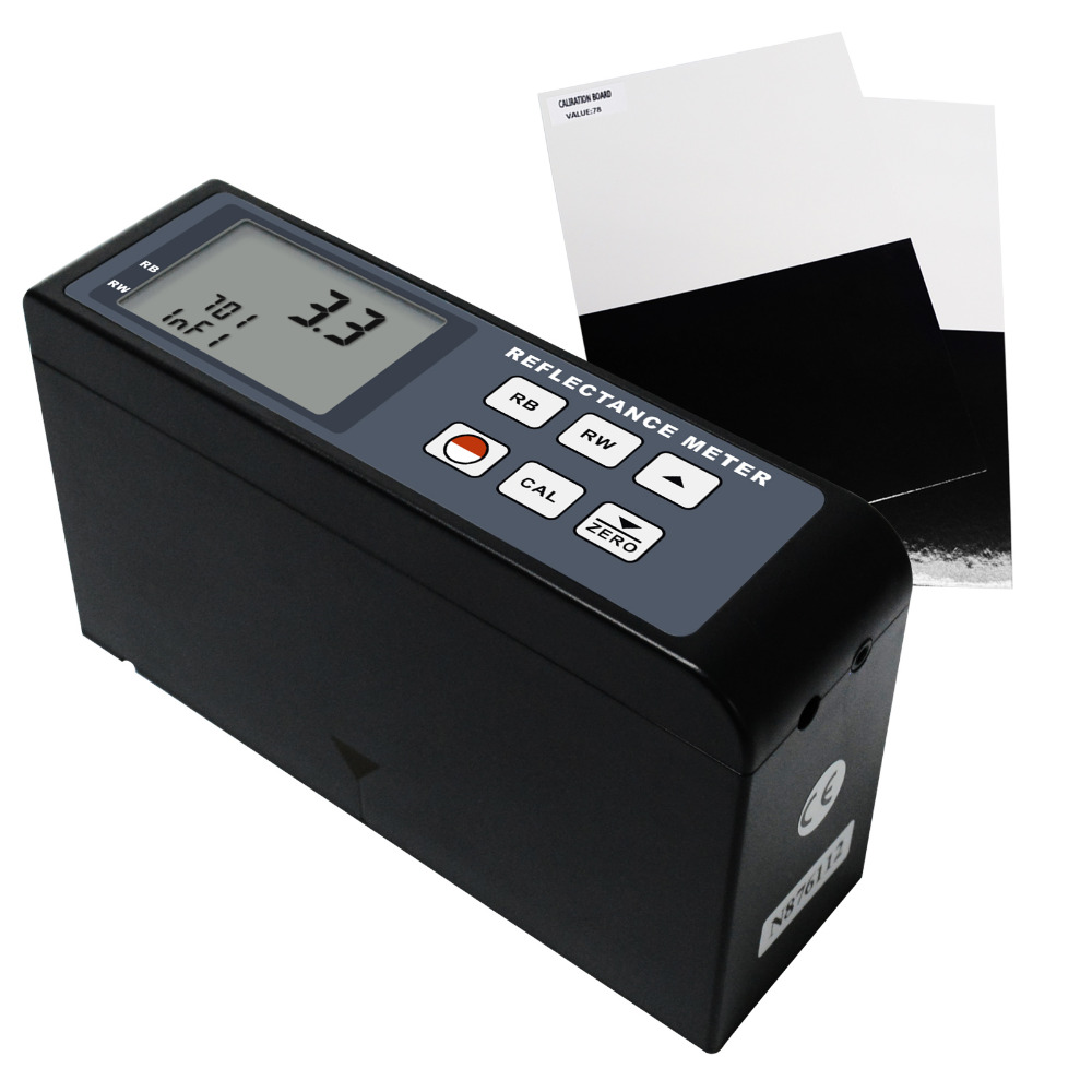 Digital Reflectance Meter 0 100 Range Plastics Printing Leather Film Light Reflectivity Transparency Tester Portable Cryptometer