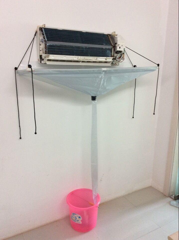 Couverture de climatiseur nettoyage climatiseur nettoyage outils de lavage bricolage ménage climatiseur nettoyeur ouvert fermé Typ