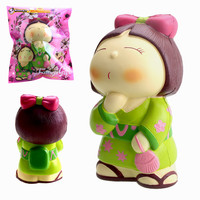 Vlampo AppleBlossoms Squeeze Japan Kimono Girl Slow Rising Original Packaging Collection Gift Decor Toy For Children