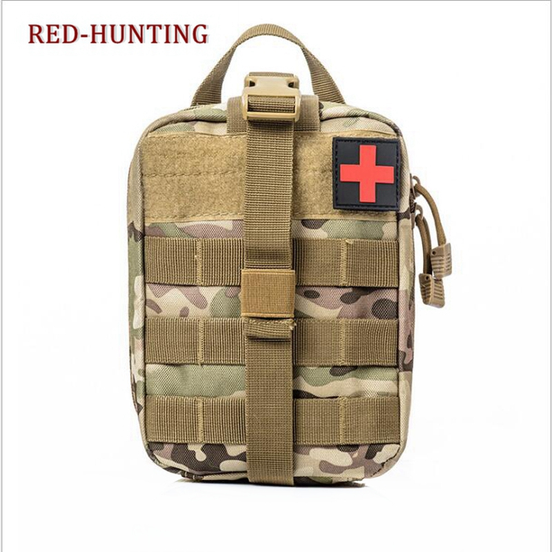 Beautiful Durable Emergency Kits Bag Tactical Medical First Aid Kit Military Waist Pack Outdoor Camping Travel Tactical Molle Pouch Moderate Price Hunting Pouches