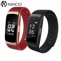 KINCO OLED Bluetooth קצב לב צג לחץ דם חכם צמיד צמיד מסלול שינה התרגיל עמיד למים עבור IOS/אנדרואיד