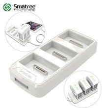 Smatree Batterie De Charge Hub pour DJI Phantom 4/4 Pro (Charge 3 Batteries Un par Un, Conversion 4 Batterie en Puissance Banque)