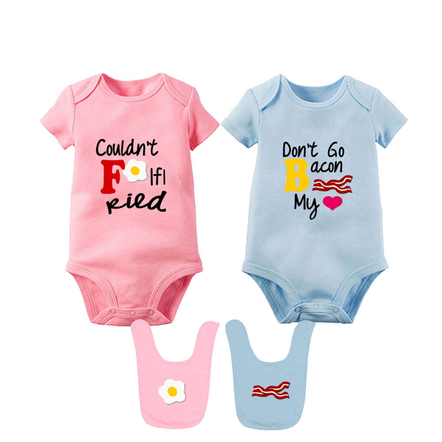 Baby Bodysuits For Unisex Boys Girls Long Sleeve White Twin Clothes