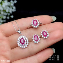KJJEAXCMY exquisite jewelry 925 sterling silver inlaid natural ruby lady's ring pendant ear nail Necklace support detection of t kjjeaxcmy exquisite jewelry 925 sterling silver inlaid natural jasper pendant ring necklace earring and ear nail set support