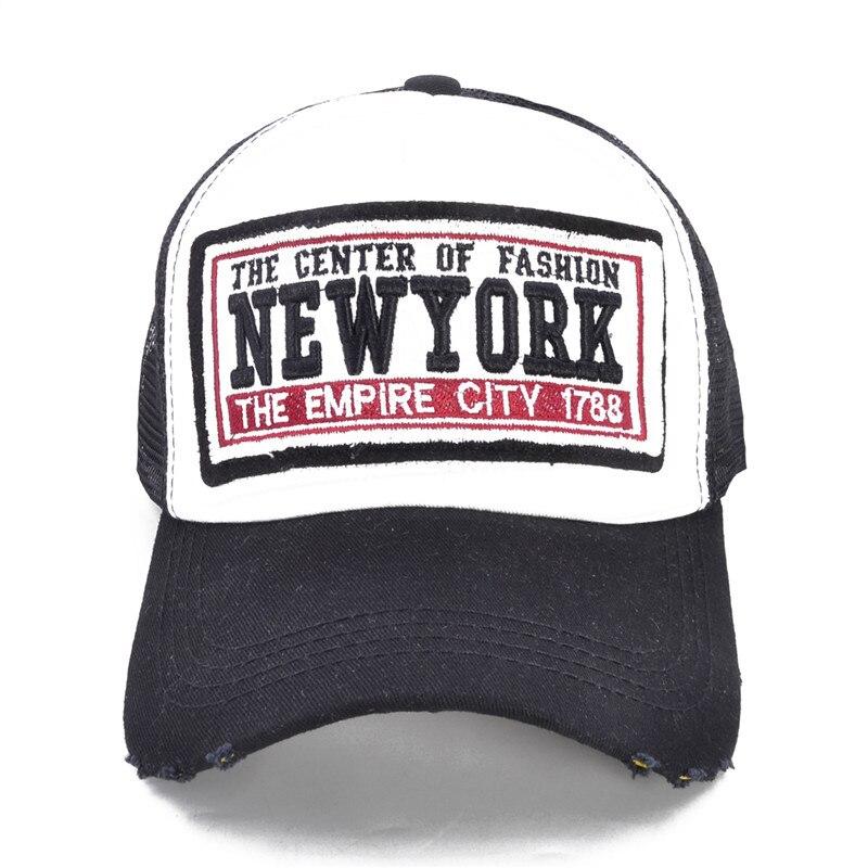 YORK CITY Womens NY Baseball Cap with Mesh Brand Snapback Hat Trucker Cap New York Baseb ...