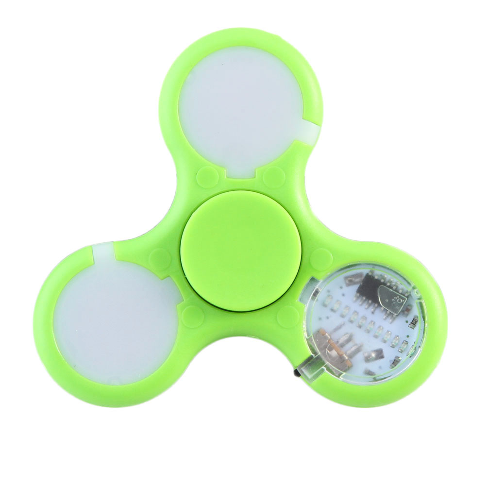 LED Fingertip Gyroscope High Quality ABS EDC Hand Spinner Fidget Toy Plastic For Autism & ADHD