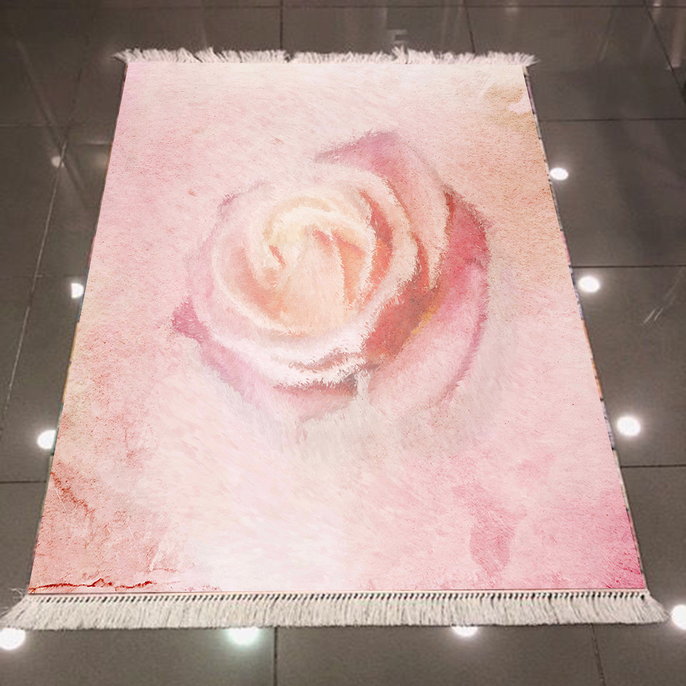 Else Pink Vintage Roses Flower Floral Aging 3d Pattern Print Microfiber Anti Slip Back Washable Decorative Kilim Area Rug Carpet|Rug| |  - title=