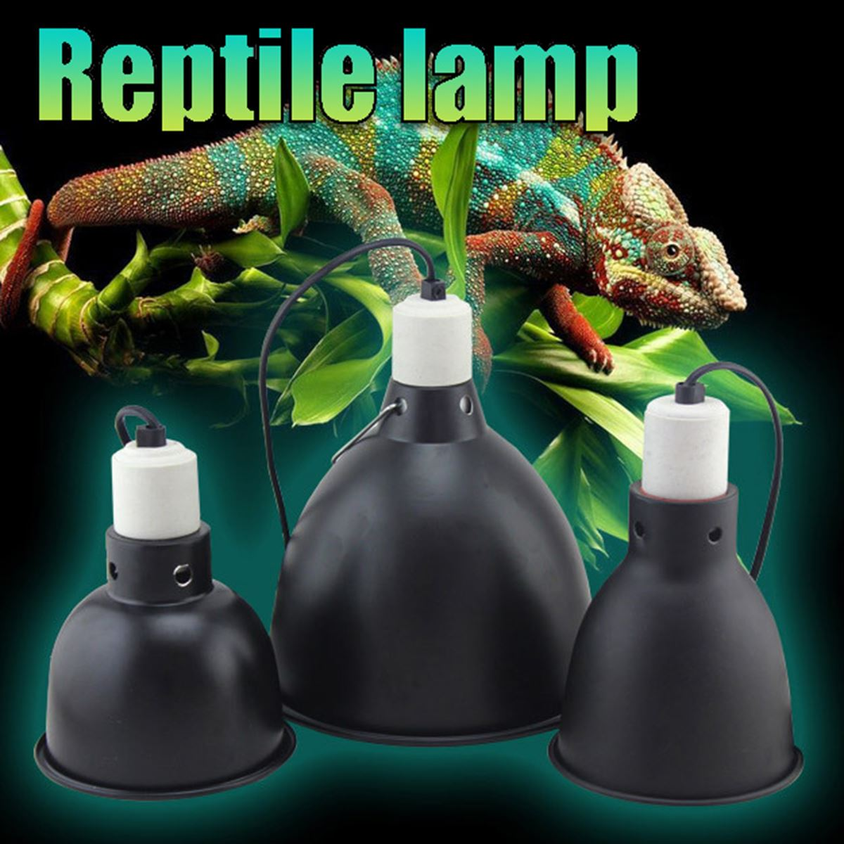 Reptile Lamp Light Holder E27 Ceramic Heat Uva Uvb
