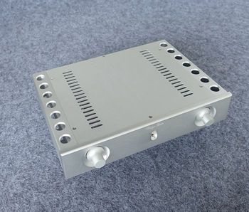 BZ3206B High-end All-aluminum Power Amplifier Chassis Silver Preamplifier Box DIY Enclosure Audio Amp Case