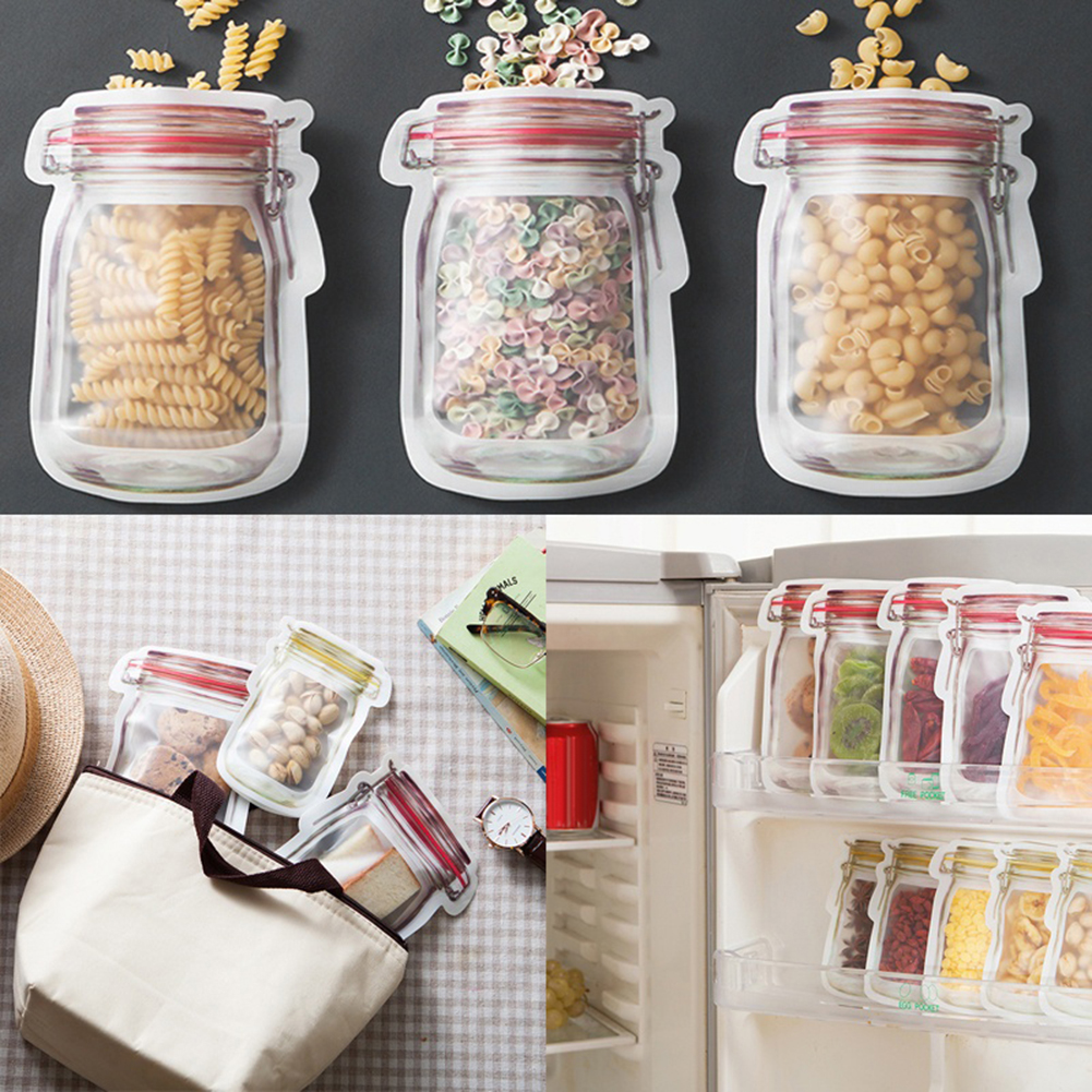 Creative Portable Jar Dried Food Fruit Nuts Tea Packaging Pouches Sealing Bags ...