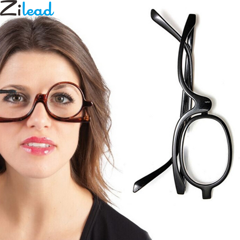 Zilead Magnifying Glasses Rotating Makeup Reading Glasses Folding Eyeglasses Cosmetic General +1.0 +1.5 +2.0+2.5+3.0+3.5+4.0 ...
