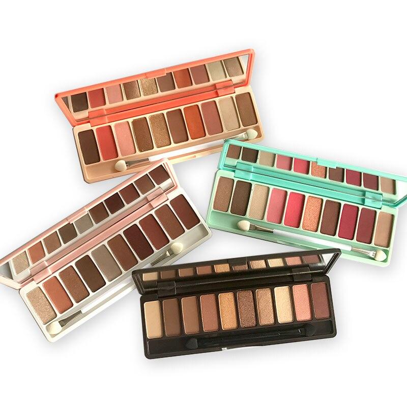 NOVO Fashion Earth coloreyeshadow palette 10 Colors Matte EyeShadow palette Glitter eye shadow MakeUp Nude MakeUp Cosmetics