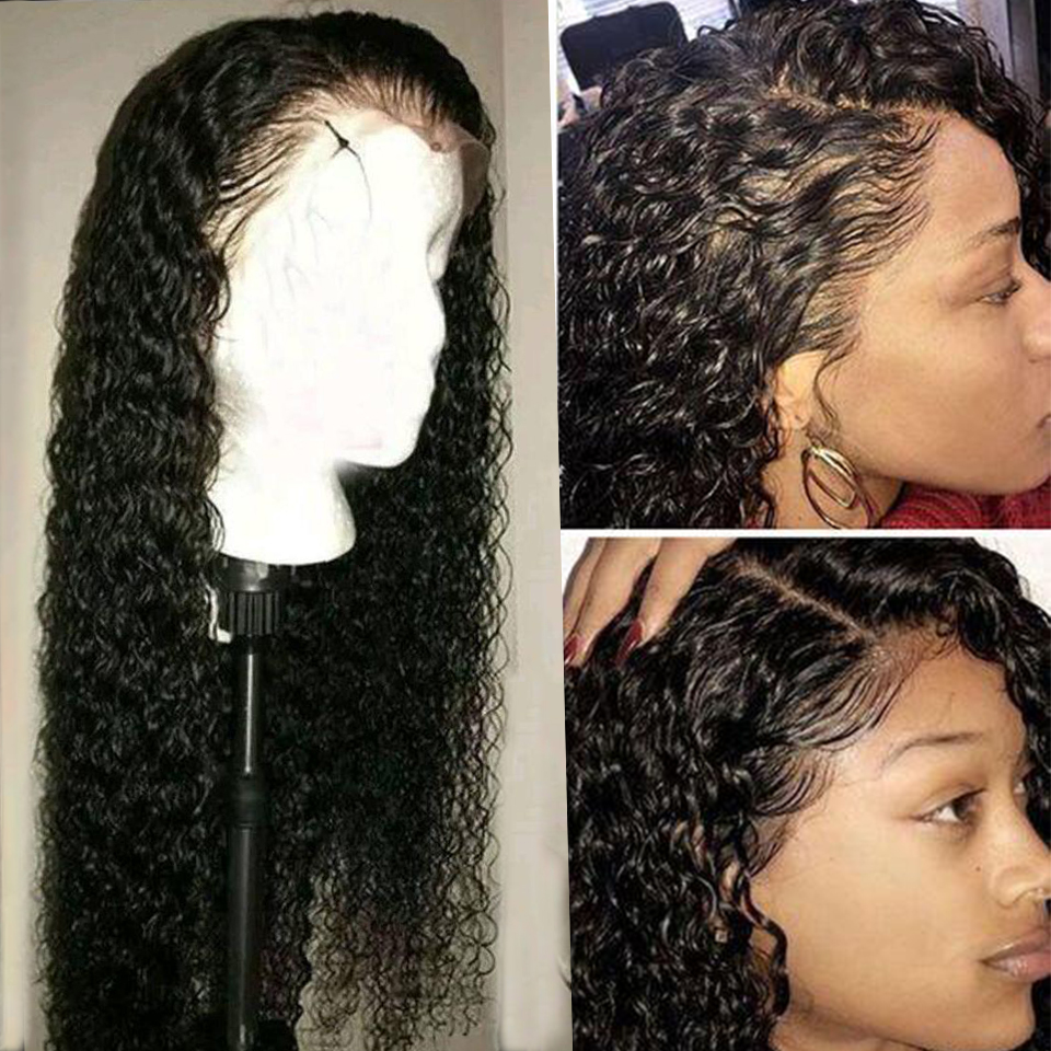 Brazilian Deep Wave Wig Human Hair Wigs 360 Lace Frontal Wig With Baby Hair Pre Plucked