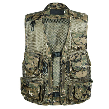 Fashion Director Photography Fisherman Casual Vest Tactical Military Camouflage CS Vest Men Breathable Multi Pocket Style Vest