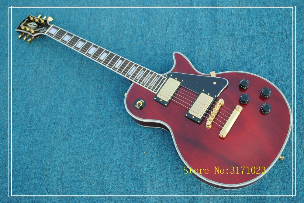 Electric guitar 2017 new lp custom guitar/with maple flame top/guitar in china free shipping made in china the best variety of lp electric guitar can be customized ems free shipping and solve any problems