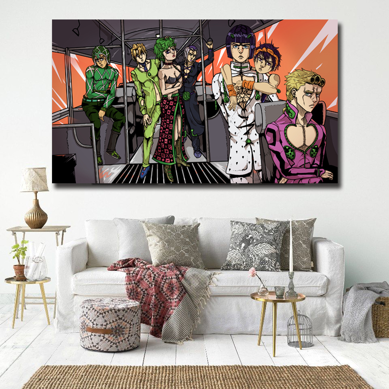 Hanako Oshiro Jojo Bizarre Adventure Part 4 Posters and Prints Decorative Wall Art Pictures for Living Room Home Decor image