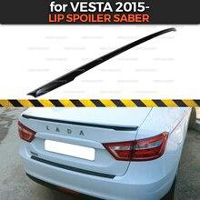 Warga spoiler saber dla Lada Vesta 2015 plastik ABS styl sportowy car styling akcesoria samochodowe dekoracja aero dynamiczne wyścigi tuning