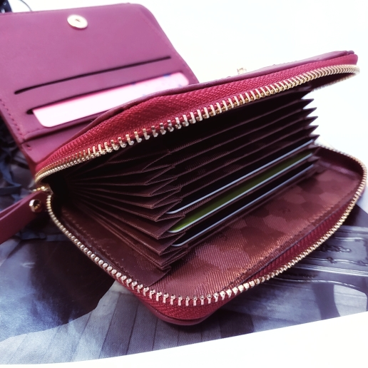 WEICHEN Large Capacity Women Card Wallet Zipper Concertine Fold Credit Card Holder Extendable ID Cards Purse Ladies Female Bags photo review