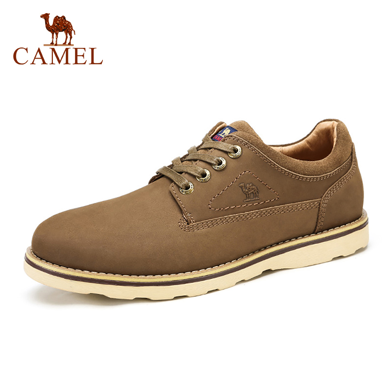 CAMEL Tooling Men s Shoes Winter Fashion Real Cowhide Casual Comfort Scrub Leather Shoes Men Outdoor