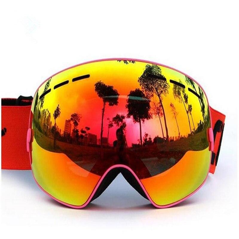 Prix pour 2017 Nouvelle Marque Sports de Plein Air Ski Lunettes Lentilles Anti-Brouillard UV Ski Masque de Ski Hommes Femmes Neige Snowboard Ski lunettes