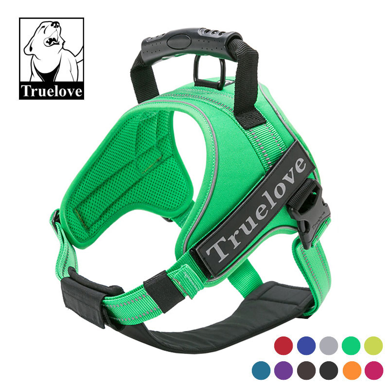 Truelove Sport Nylon Reflective No Pull Dog Harness Outdoor Dogs Pet Accessories Adjustable Dog Vest Dog Chest for Large Dog