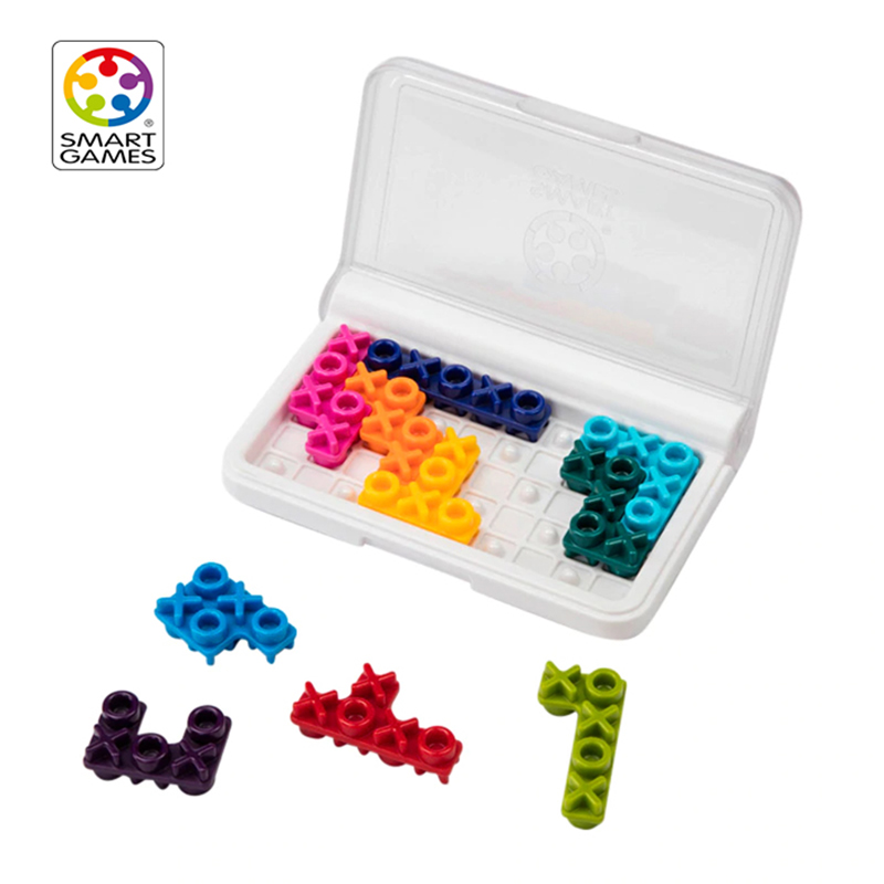 Smart Games IQ XOXO Puzzle Toy With 120 Challenge Montessori Life Skill Education Toys For Children Logical Thinking Capability