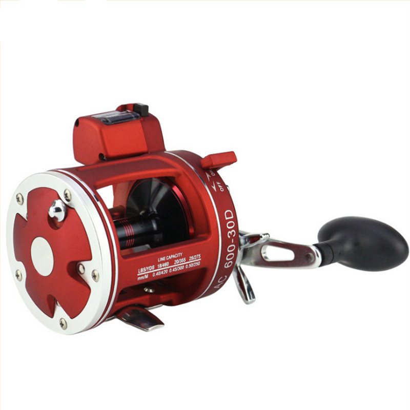 Bobing Drum Trolling Reel with Fishing Line Counter Anti-Corrosion Sea Boat Fishing Baitcasting Reel Extra Length Handle Tackle bobing acl30 50 left right hand baitcasting reel outdoor sports sea boat fishing reel 12bb with fishing line counter tackle tool