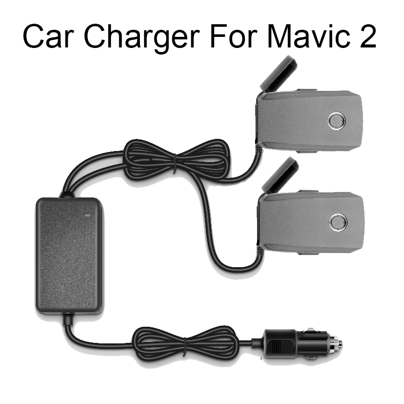 цена на Car Charger For DJI Mavic 2 Pro AIR Drone Battery with 2 Battery Charging Ports Fast Charging Travel Transport Outdoor Charger