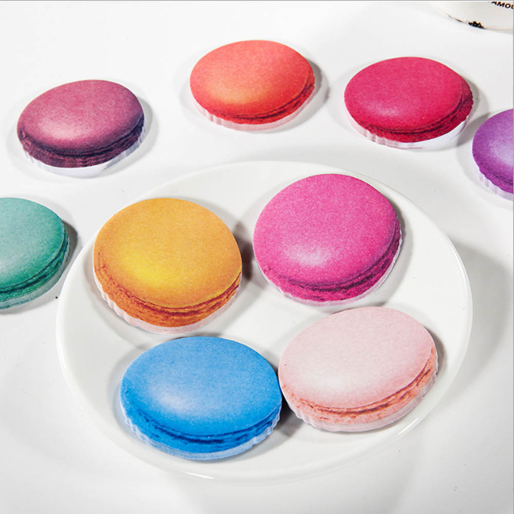 Kawaii candy color Macaron Memo pads Colorful sticky notes post it korean stationery office school supplies papelaria