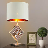 New modern minimalist lampshade Ling shape metal Table Lamps creative living room bedroom bedside lamp American fashion Lamps