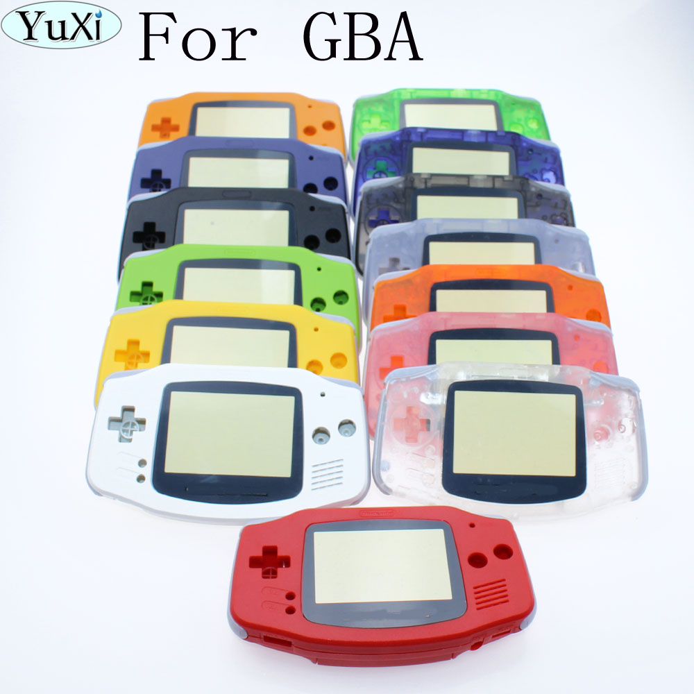 YuXi Housing Shell Case Cover+Screen Lens Protector +Stick Label for Gameboy Advance FOR GBA Console new for gameboy advance mod lcd backlight kit 32 pin or 40 pin for gba sp ags 101 backlit screen
