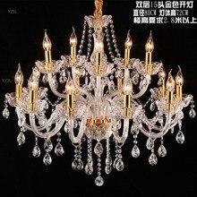Chandelier lights living room bedroom restaurant book golden Transparent lattice chandelier crystal lighting