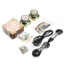 New Stylish Mini Individuality DIY Transparent Mini Amplifier Speaker Kit 65x65x70mm 3W Per Channel