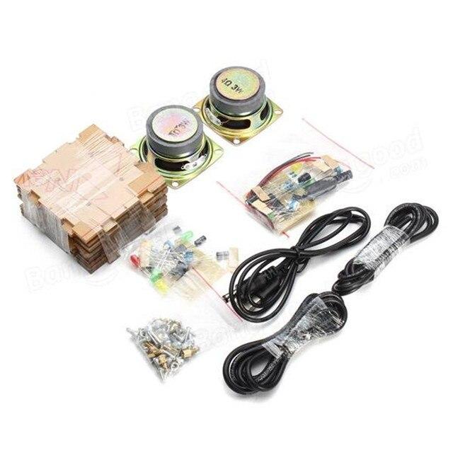 Novo elegante mini individualidade diy transparente mini amplificador alto falante kit 65x65x70mm 3 w por canal