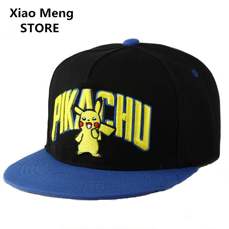 High Quality Pokemon Go Pikachu Embroidery Baseball Cap Hat For Men Women Adjustable Hip Hop Caps Pokemon Game Snapback Hats M53