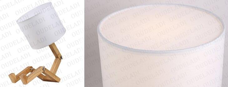 Forma do robô lâmpada de mesa de