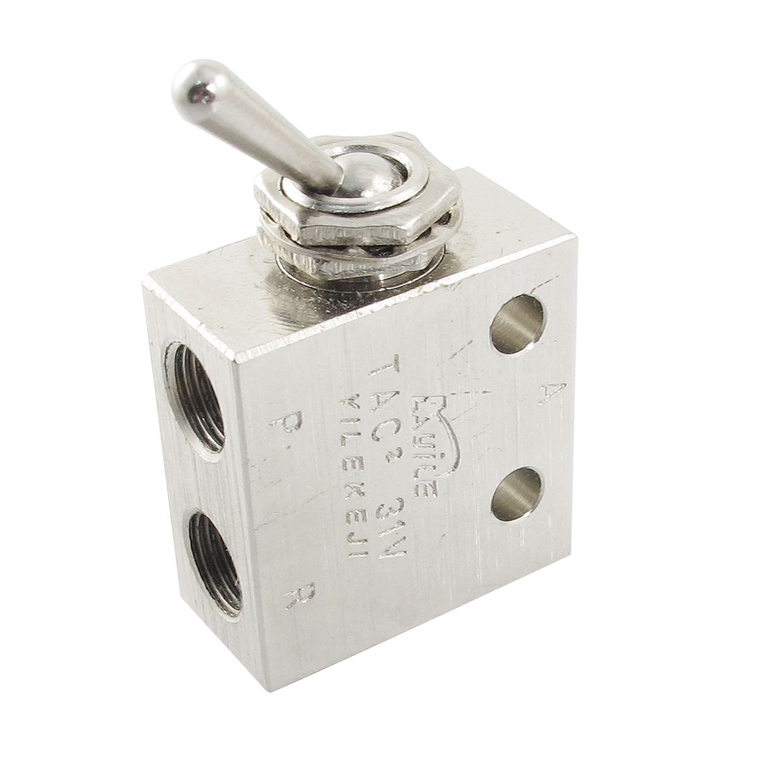 1/8Pt Thread 2 Position 3 Way Rectangle Mechanical Air Pneumatic Valve For Control The Output Signal Of Pneumatic Systems 5pcs air pneumatic 3 8 x 1 4 pt m m thread pipe connectors hex nipples