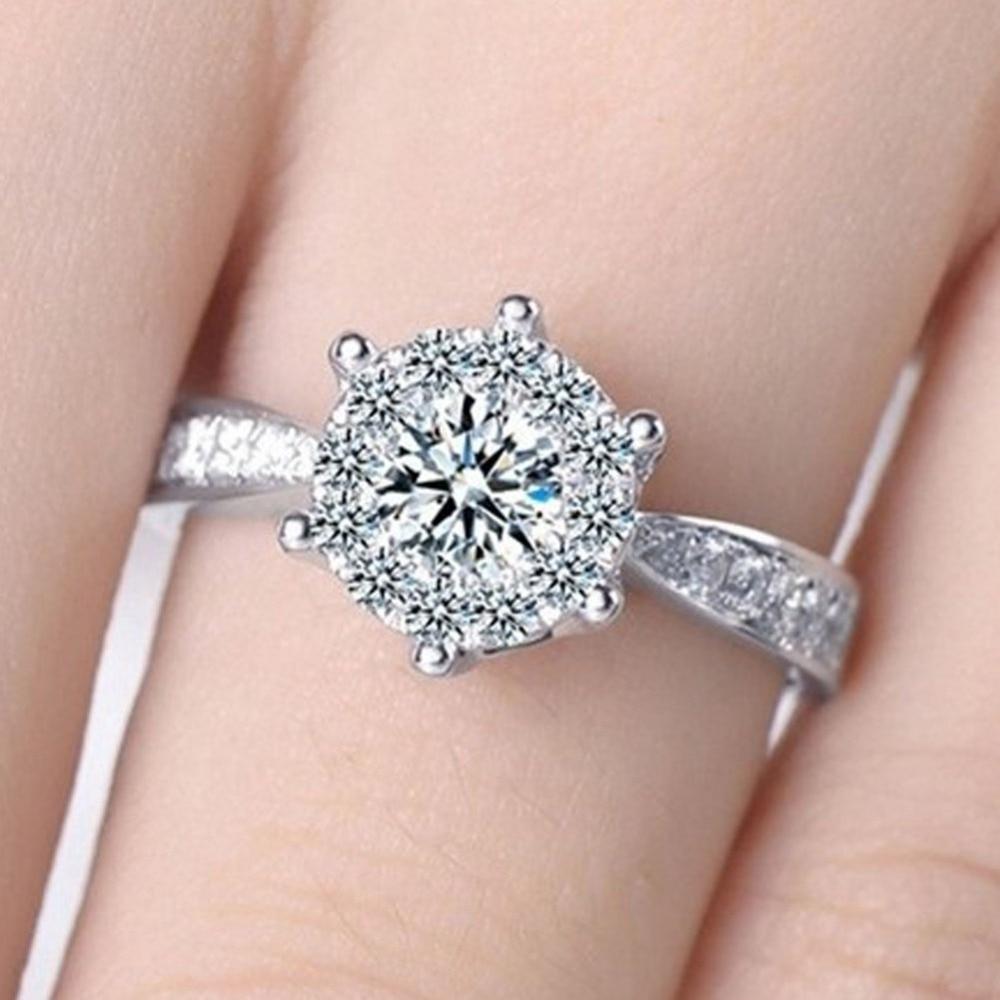 2017 European Charming Jewelry Love Empty Inlaid Zircon Wedding Ring ...