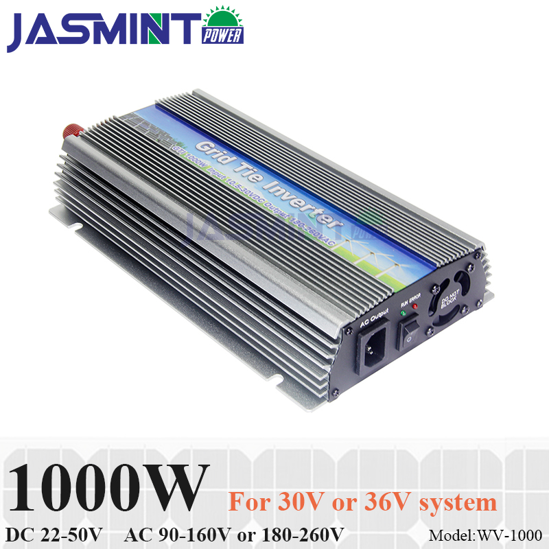 1000W Grid Tie Inverter, 20 50V DC to AC 220/230V Pure Sine Wave Inverter for 1000 1200W 24V, 30V, 36V PV module or Wind Turbine